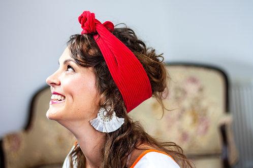 Red Corduroy Rockabilly Headband
