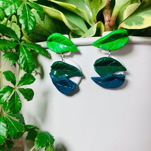 Leafy Greens Stud Earring