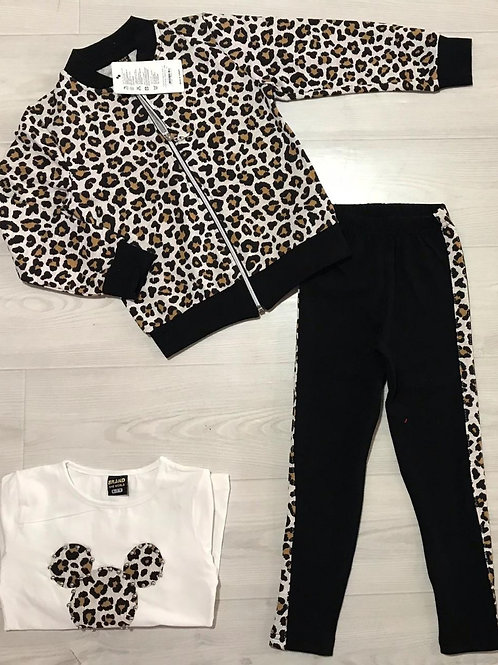 Girls Leopard Minni Set