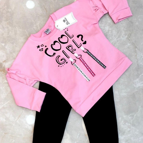 Cool Girl's Pink Outfit
