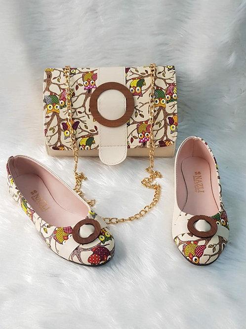 Owls Handbags and Shoe Matching Set
