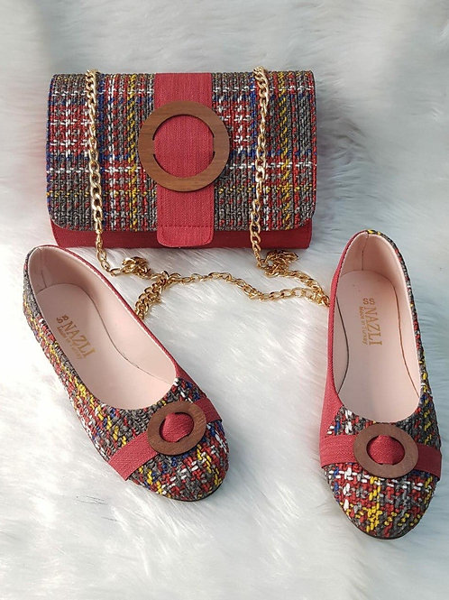 Cute red handbag and shoes