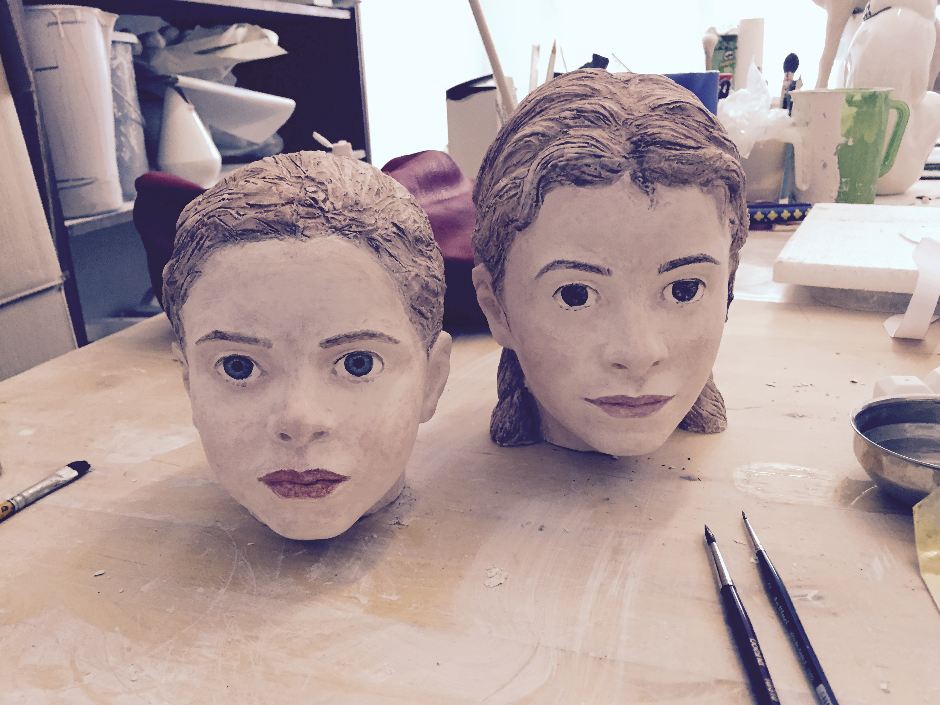 Talking heads, Portrait modellieren 2.3., 9.3., 16.März 2020