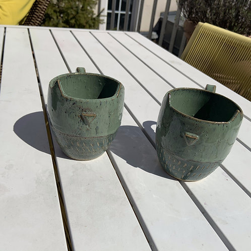 Tasse Green Kitty