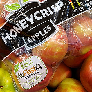 Honey Crisp Apple Bag with NuPlastiQ Log