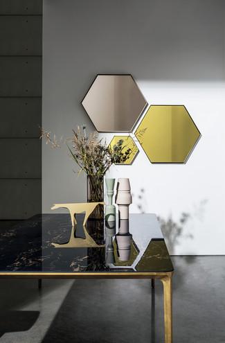Visual Hexagonal + Slim Rectangular Table