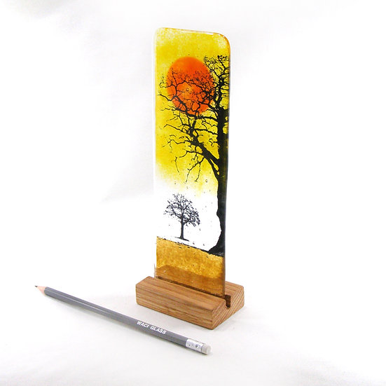 Fused Glass Side Tree Sunset