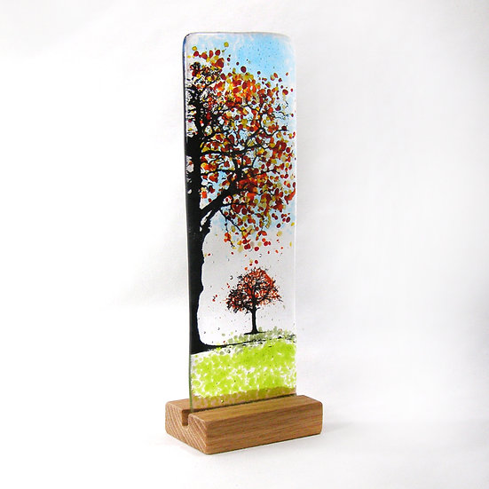 Fused Glass Autumn Trees