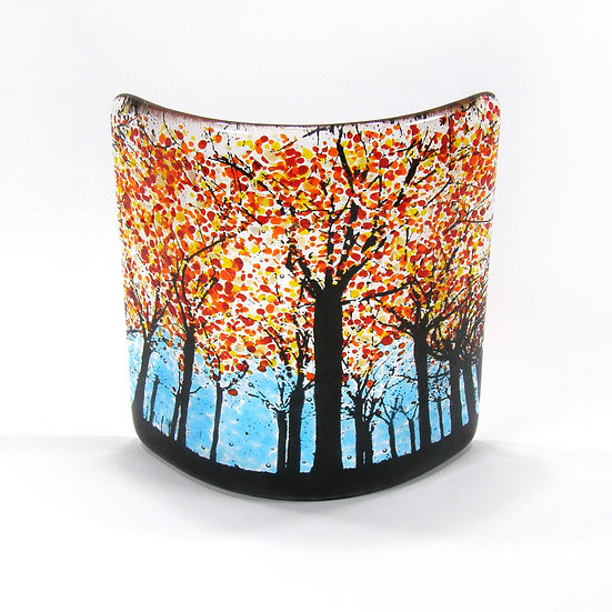 Fused Glass Curve - Autumn Tree Curve
