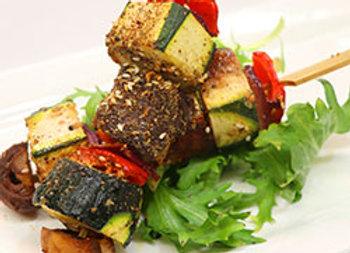 Vegetarian Dukkah skewer
