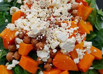 Spinach and pumpkin salad