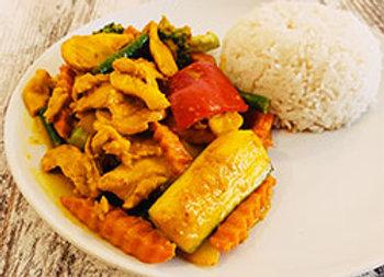 Satay sauce stir fry