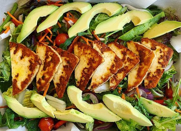 Grilled Haloumi & Avocado Salad (GF) (VEG)