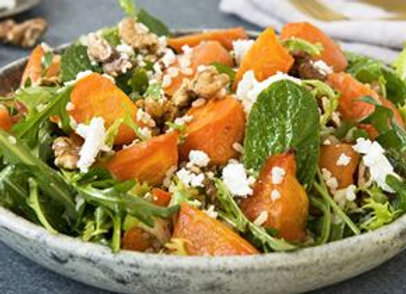 SS21 Salad - Individual Roasted Carrot And Brown Rice Salad GF / V / FF