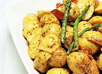 Roast chat potato platter