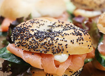 Smoked salmon new york bagels - mini