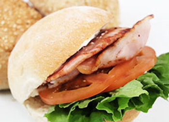 BLT roll with mayonnaise