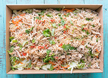 Pulled chicken noodles