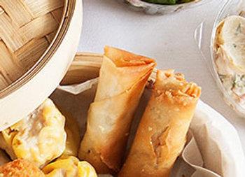 Shitake and leek spring rolls