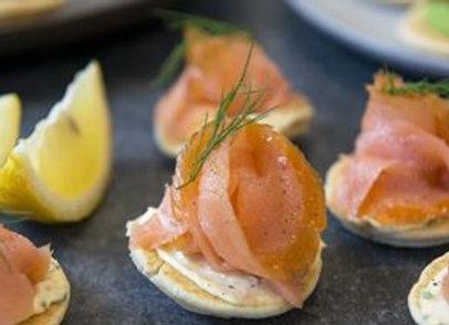 Blinis W Smoked Salmon, Dill & Crème Fraiche