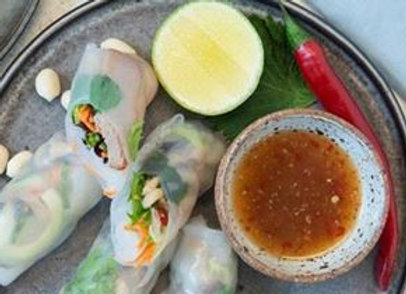Assorted Rice Paper Roll - Served With Hoisin and Peanut Sauce DF