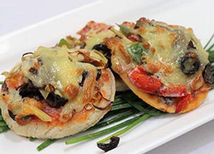 Gourmet mini pizza
