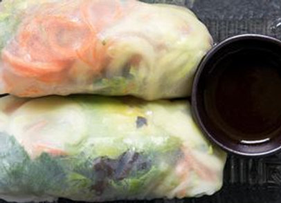 Vegetarian Tofu Rice Paper Rolls VGN - 2 PCS