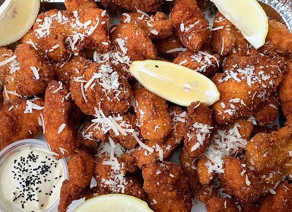 Popcorn Chicken Bites & Aioli