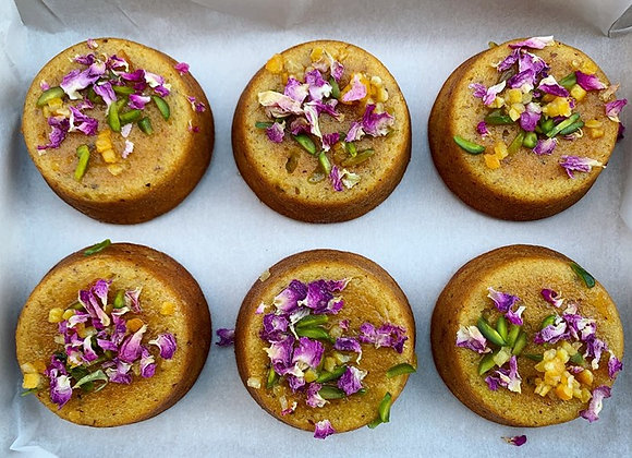 Persian Orange & Pistachio Cakes - Box of 6 (GF) (DF)