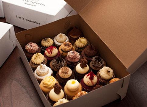 Assorted mini cupcake box