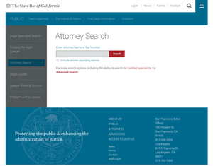 california state bar attorney search