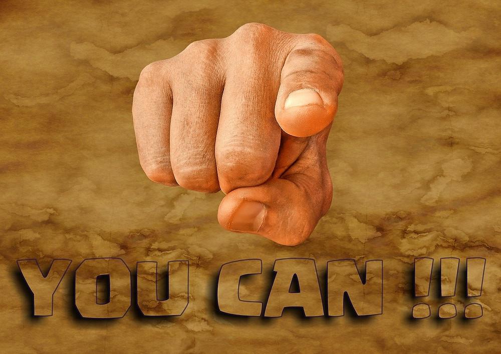 รูปนิ้วชี้ You can do it. ให้กำลังใจ
