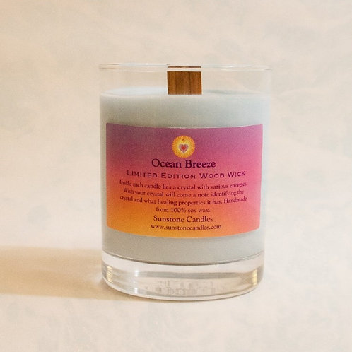 Limited Edition Wood Wick Candle - Ocean Breeze