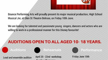 audition notice for glenn st theater