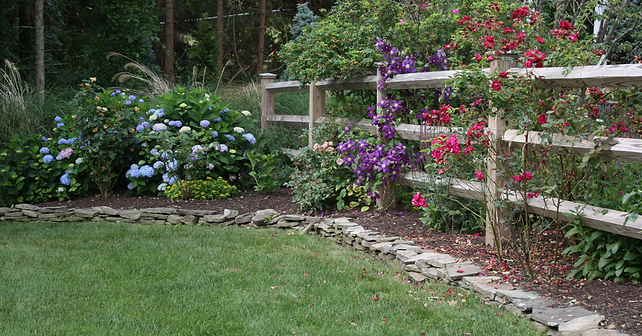 Colorful flower gardens in Durham, CT