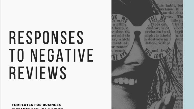 Negative Comment/Review Response