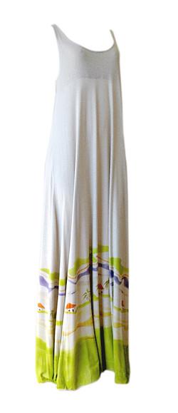 vestido longo garrafinhas de areia
