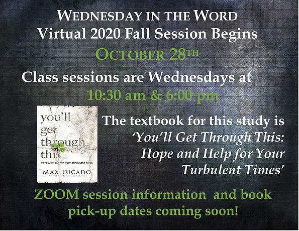 Slide - Wednesday In The Word Fall 2020.