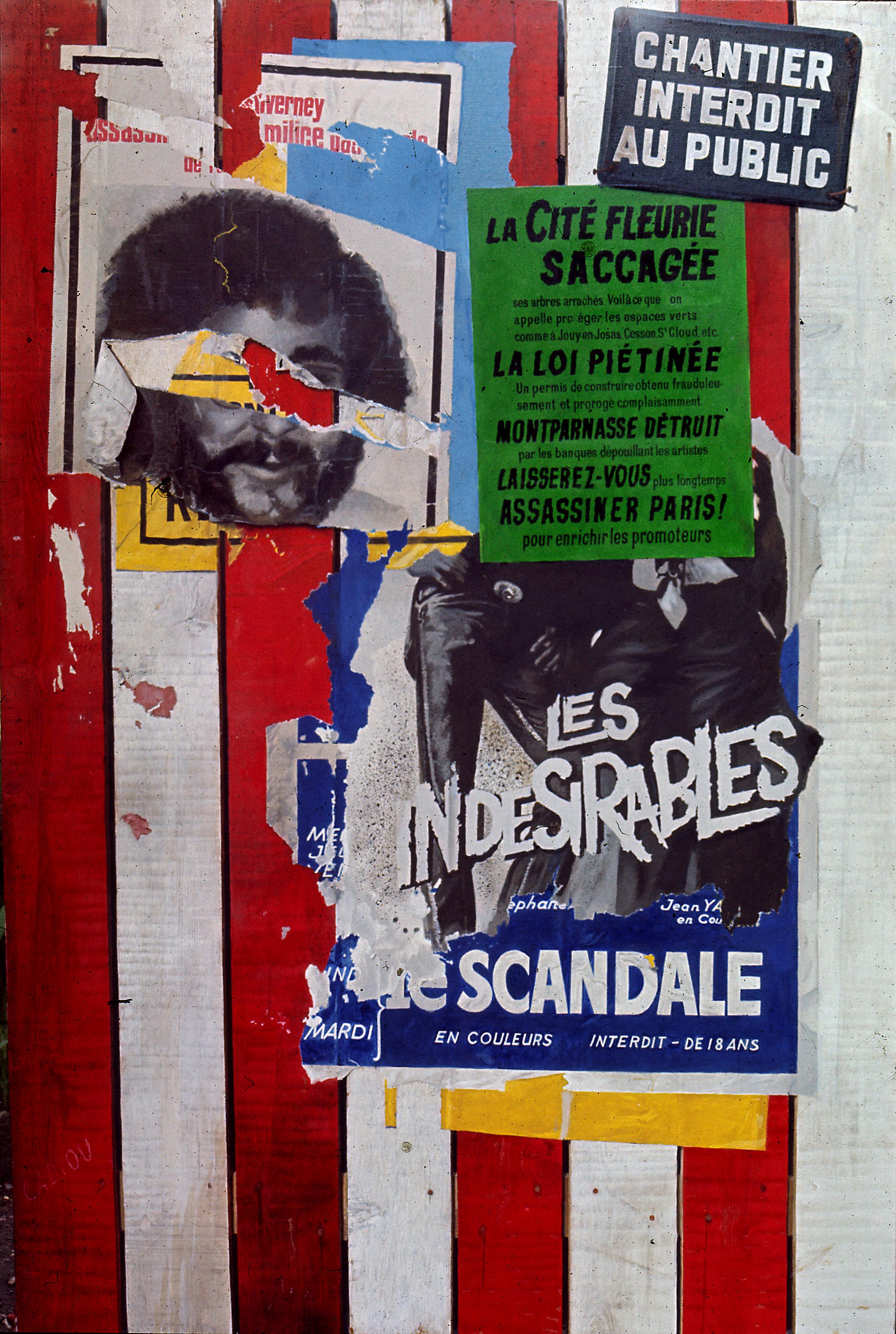 """CADIOU """"La palissade"""" 1972"""
