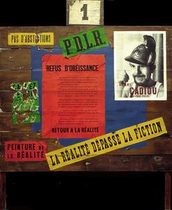"""CADIOU """"Panneau électoral"""" 1964"""