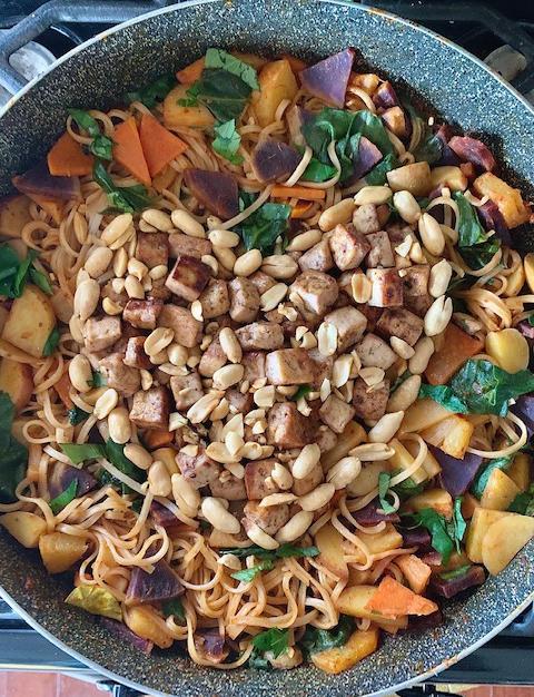 Peanut Ginger Spiced Noodles