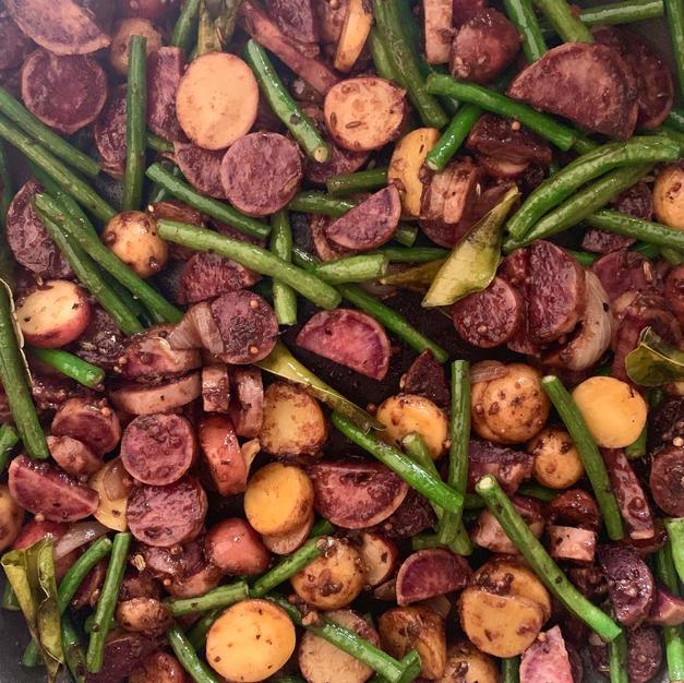 Warm Sesame Spiced Potato Salad