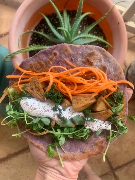 Sweet Potato Tortillas with Spicy Ulu