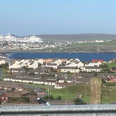 Cruise Ship arriving Lerwick