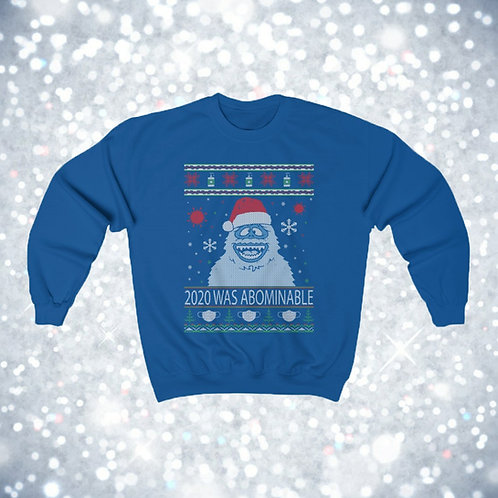 2020 Was Abominable - Ugly Christmas Sweater