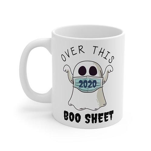 Over This Boo Sheet - Halloween Mug 11oz