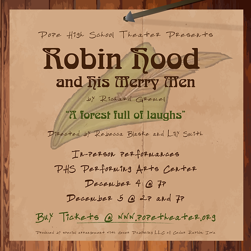 Robin Hood and his Merry Men | Dec. 4 @ 7 p.m. | Student