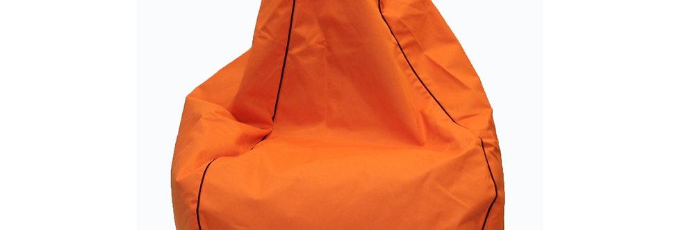 200L Orange filled bean bag Hire