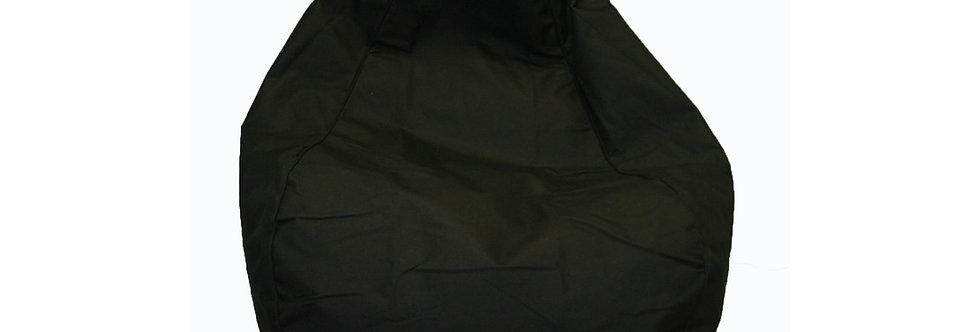 200L Black filled bean bag Hire