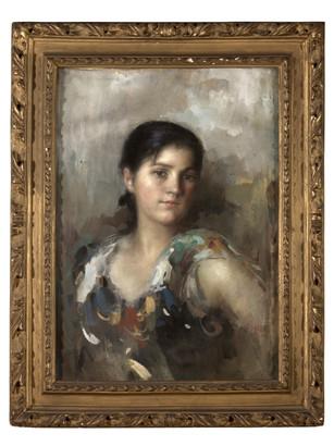 N.319 A001, Ritratto di Fanciullia zingara, Agazzi, Museo Civico AbanoTerme - Collezione Bassi